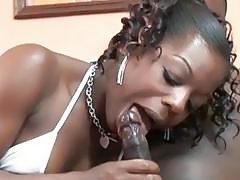 Ebony Anastasia is blowing a dude she just met