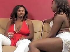 Two Black Ebony Toying And Eatin...