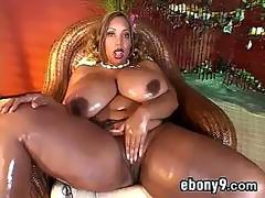 Big Black Woman Masturbating