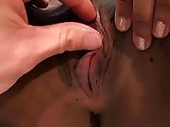 Sporty black beauty impaled on pecker