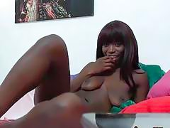 Its The Ebony Babe Cock Sucking Show